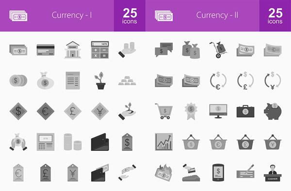 货币金融主题图标