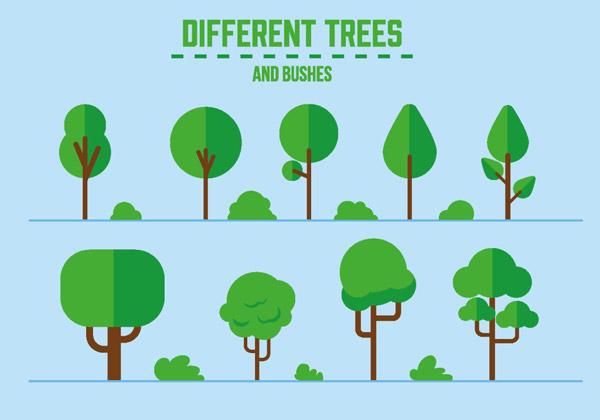 树木,手绘树木,手绘植物,矢量素材,绿植,绿色植物,eps 下载文件特别