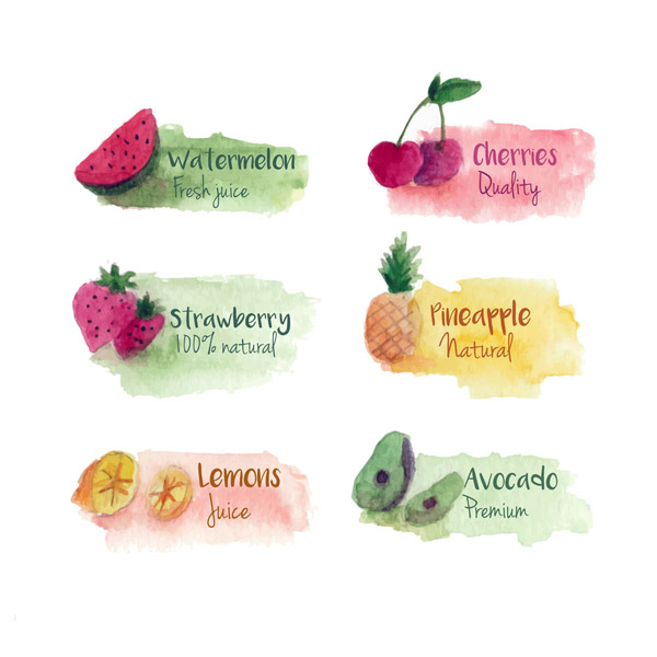 水果果汁标签