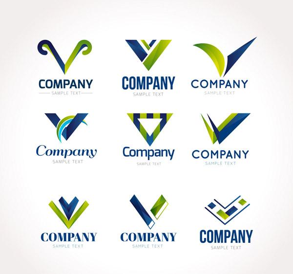V商务标志矢量
