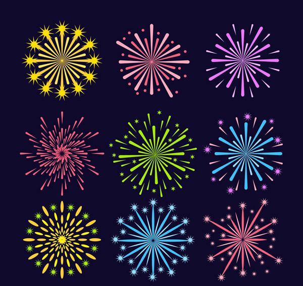 点 关键词: 9款彩色礼花设计矢量素材,节日,庆典,礼花,烟花,烟火,矢量