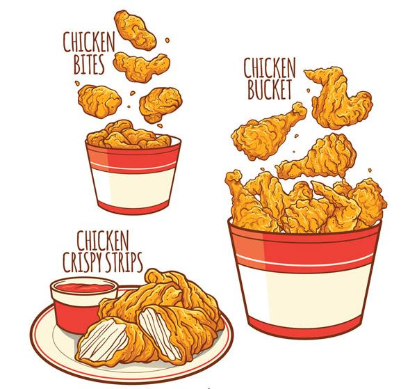 彩绘鸡快餐食品