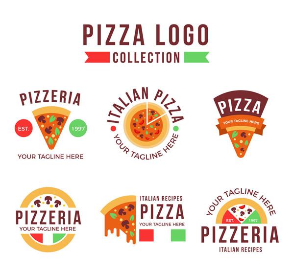 彩色披萨标志