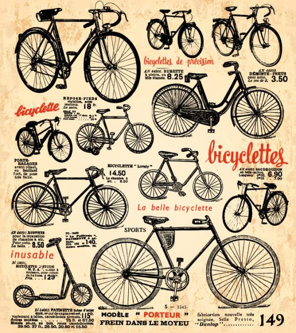 复古自行车海报