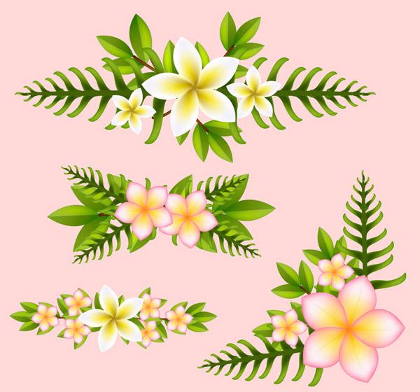 棕榈树叶花边