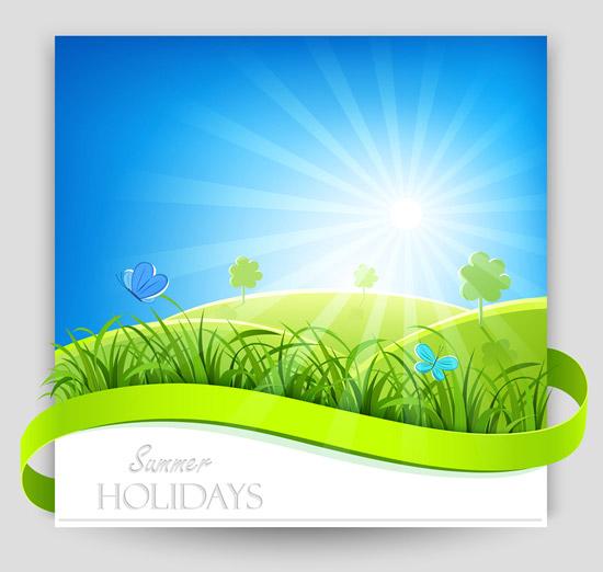 清新自然夏季海报