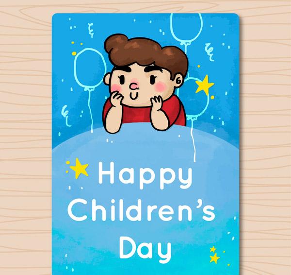 儿童节男孩卡片_素材中国sccnn.com