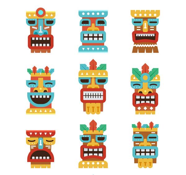 夏威夷面具图标