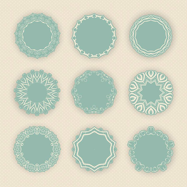 圆形装饰边框