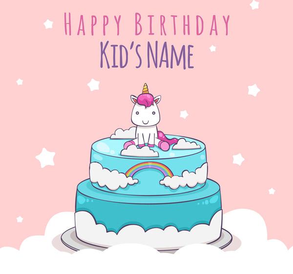 独角兽生日蛋糕