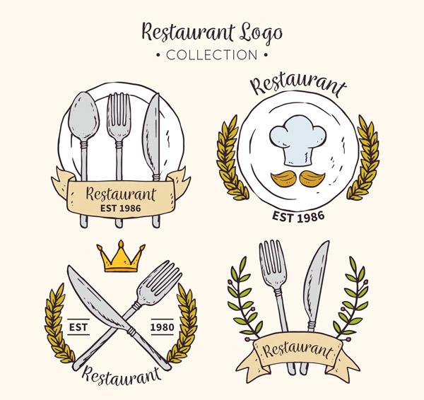 彩绘餐馆标志