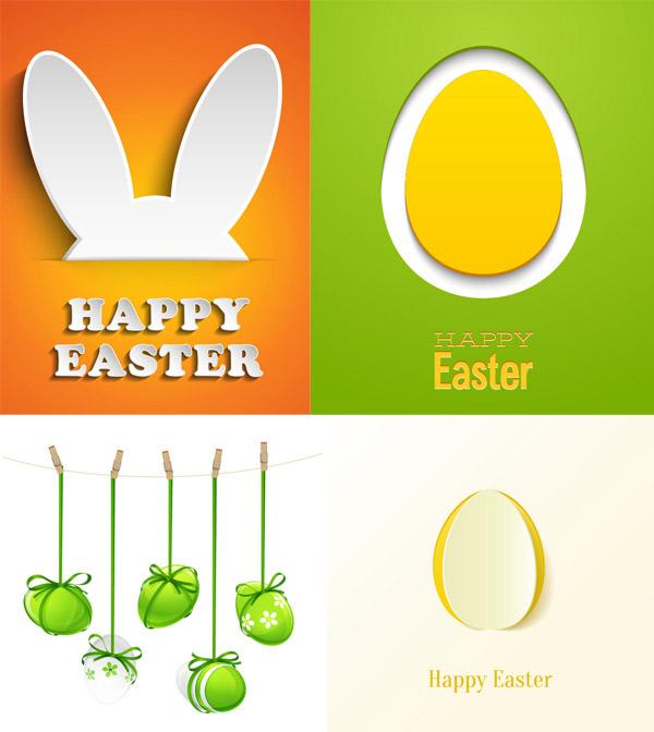 精美复活节卡片矢量素材,复活节,卡片,兔子耳朵,夹子,card,背景,贺卡,彩蛋,贴纸,矢量素材,EPS格式