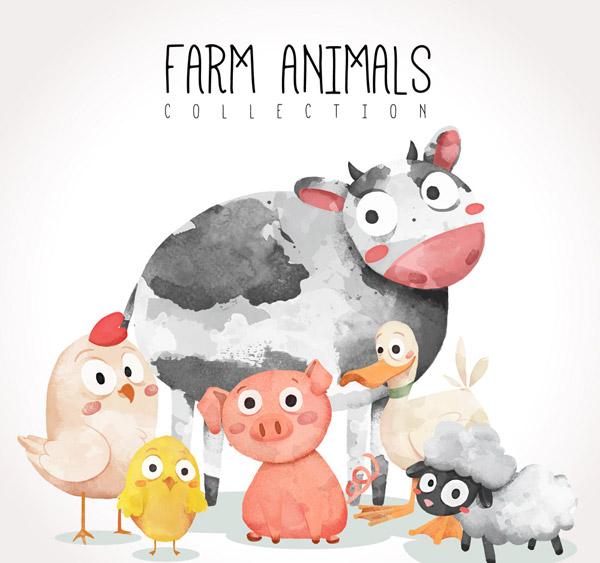 农场动物矢量