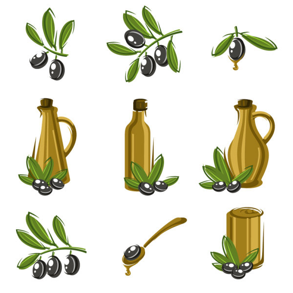 Olive vector material