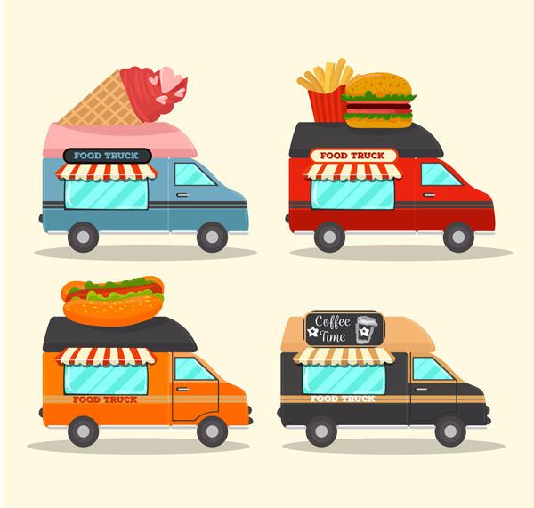 卡通快餐车图片