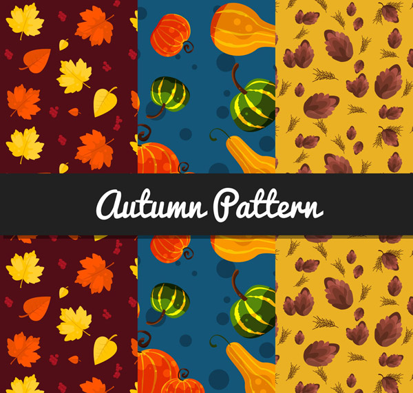 秋季元素无缝背景