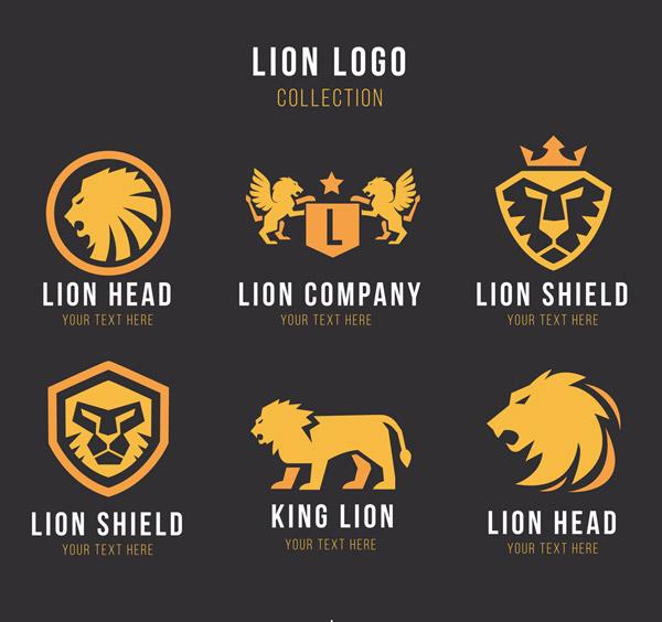 金色狮子标志