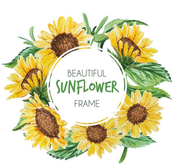 向日葵花框架