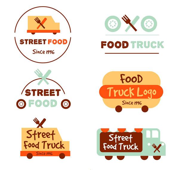 彩色快餐车标志