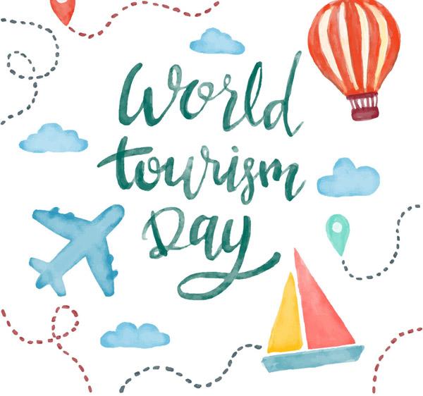 素材分类: 矢量艺术字所需点数: 0 点 关键词: 水彩绘世界旅游日艺术