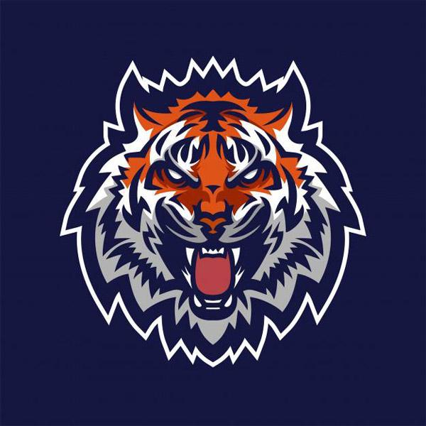 老虎吉祥物标志