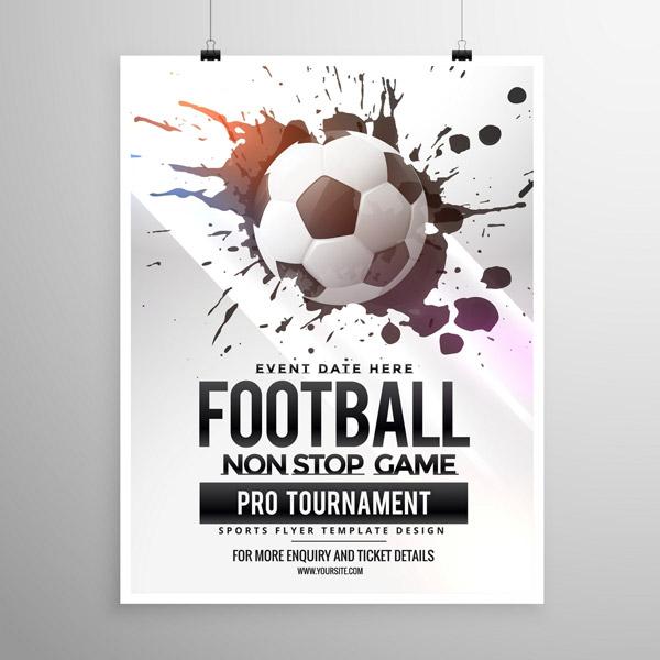 喷墨足球比赛海报