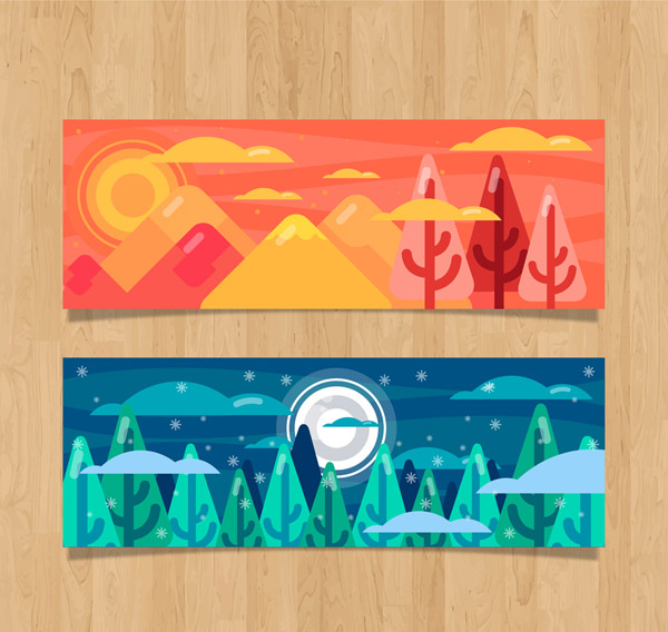 树林风景banner