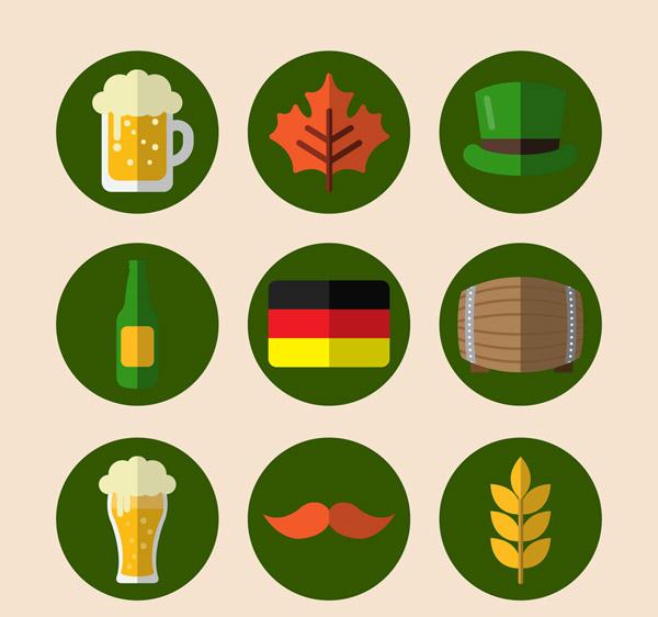 啤酒节元素图标