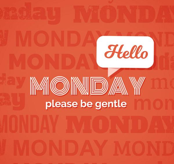 星期一艺术字
