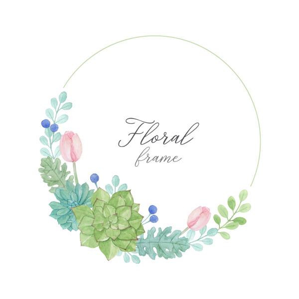 圆形花卉框架