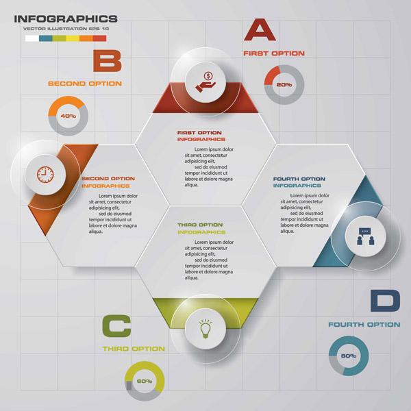 0 点 关键词: 抽象商务图表元素,商务图表,步骤,六边形,图标,矢量
