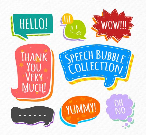 可爱语言气泡