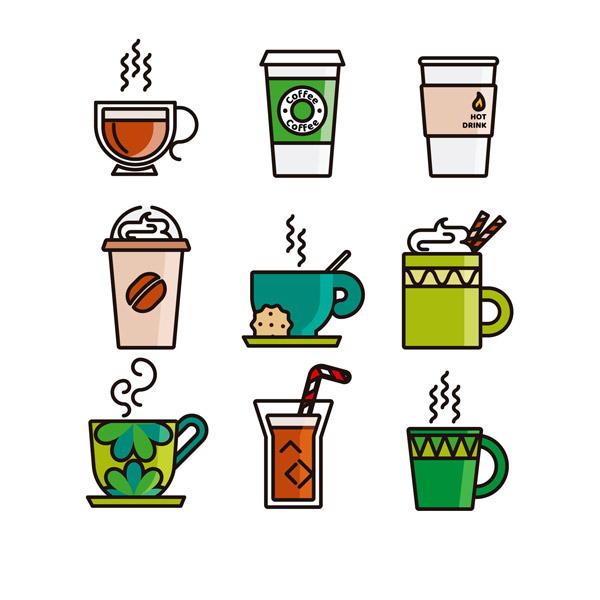 彩色咖啡杯