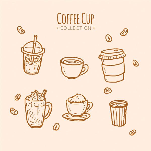 创意手绘咖啡杯