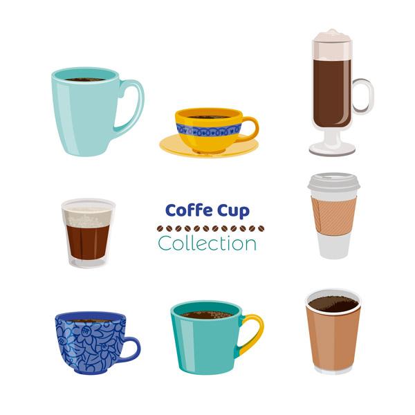 彩色卡通咖啡杯