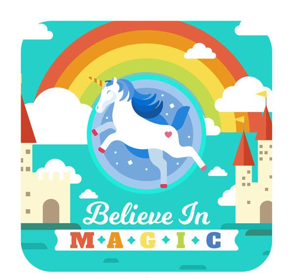 素材分类: 矢量卡通动物所需点数: 0 点 关键词: 彩色魔法世界独角兽