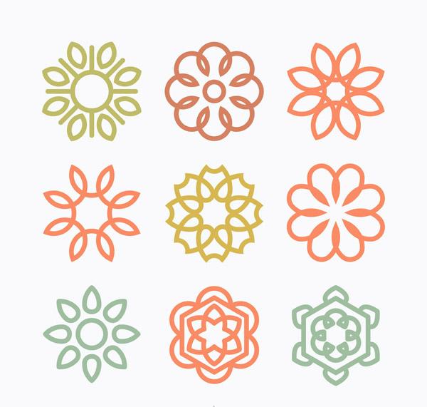 抽象花朵标志