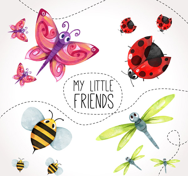 彩绘昆虫设计