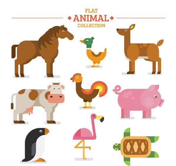 素材分类: 矢量野生动物所需点数: 0 点 关键词: 9款扁平化农场动物