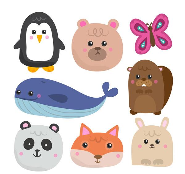 素材分类: 矢量卡通动物所需点数: 0 点 关键词: 8款卡通动物设计