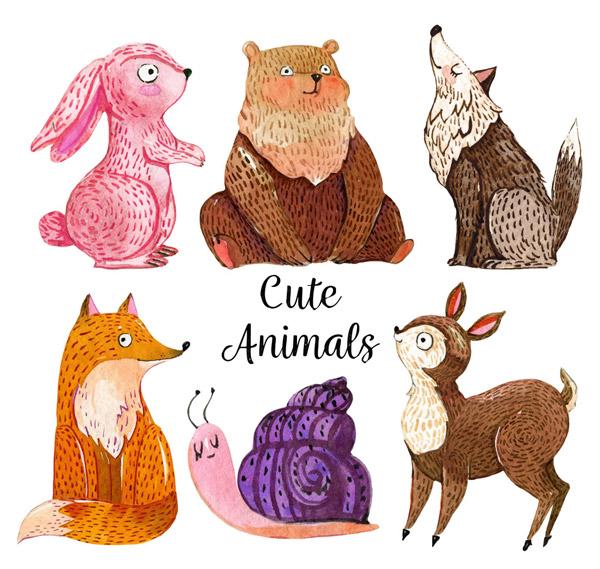 手绘可爱动物