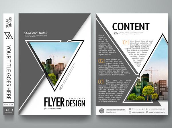 平面广告所需点数: 0 点 关键词: 宣传册模板矢量设计,三角排版,宣传