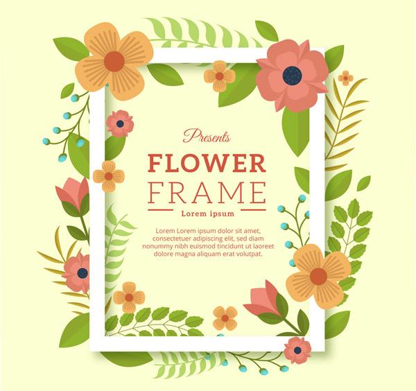 花卉装饰框架