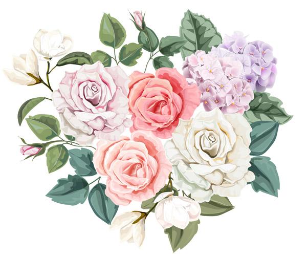 花香玫瑰矢量