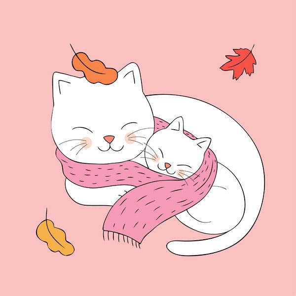 卡通猫插画