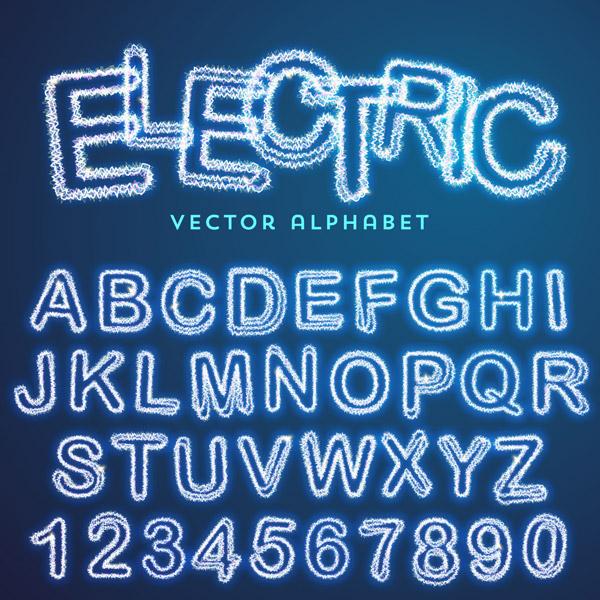 发光字母数字