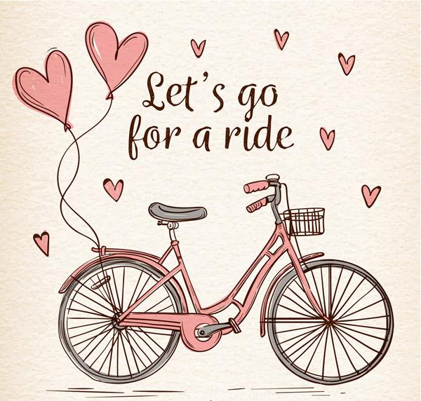 点 关键词: 彩绘爱心气球和单车矢量素材,彩绘,气球,爱心,单车,矢量图