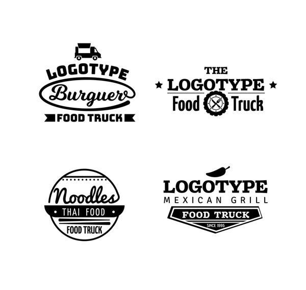 黑色款餐车标志