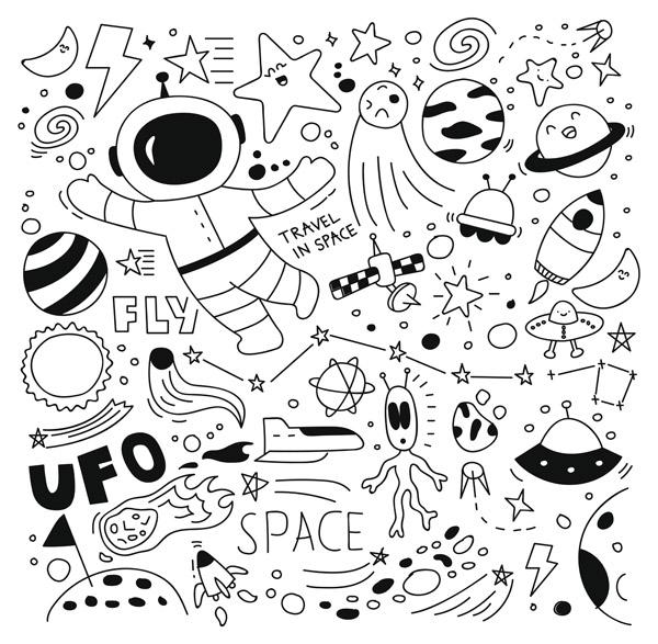太空涂鸦集