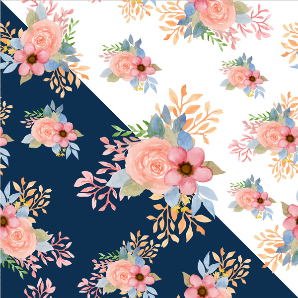 水彩花卉无缝背景